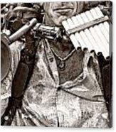 The Music Man - Monochrome Acrylic Print