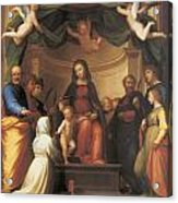 The Mystical Marriage Of Saint Catherine Acrylic Print by Fra Bartolomeo