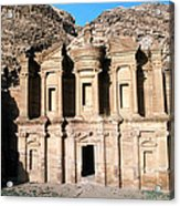 The Nabateian Temple Of Al Deir Acrylic Print