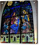The Nativity Stained Glass Acrylic Print
