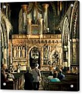 The Nave At St Davids Cathedral Acrylic Print