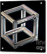 The Necker Cube Acrylic Print