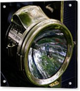 The Old Brass Ford Headlight Acrylic Print by Steve McKinzie