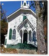 The Old Country Church On The Hill Acrylic Print