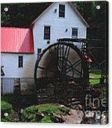 The Old Mill 1886 In Cherokee North Carolina Acrylic Print by Susanne Van Hulst