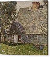 The Old Mulford House Acrylic Print by Childe Hassam