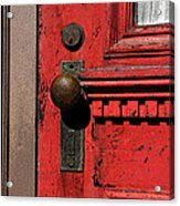 The Old Red Door Acrylic Print