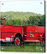 The Old Red Fire Engine Acrylic Print