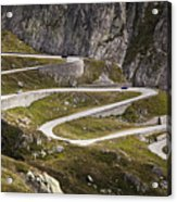 The Old Road To Gotthard Pass Acrylic Print by Buena Vista Images