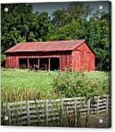 The Old Tractor Shed In Vignette Acrylic Print