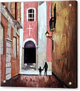 The Open Door Acrylic Print by Anthony Falbo