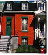 The Orange House In Montreal Acrylic Print