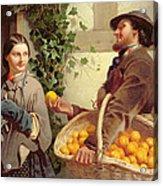 The Orange Seller  Acrylic Print