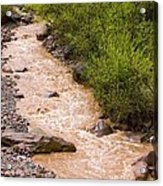 The Ourika River In Spate Acrylic Print