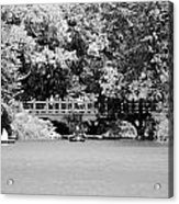 The Overhang In Black And White Acrylic Print