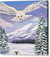 The Owl And The Rat Acrylic Print by Phyllis Kaltenbach