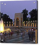 The Pacific Pavilion And Pillars Acrylic Print by Richard Nowitz