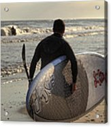 The Paddleboarder Acrylic Print