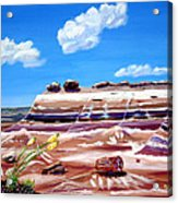 The Painted Desert And The Petrified Foreste Acrylic Print