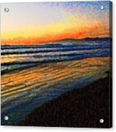 The Painted Waves Of Dawn  Acrylic Print