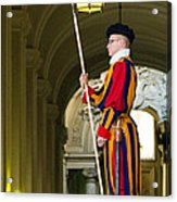 The Papal Swiss Guard Acrylic Print