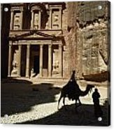 The Pharaohs Treasury Or Khazneh Acrylic Print