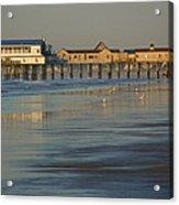The Pier On Old Orchard Beach Acrylic Print