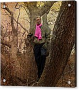 The Pink Scarf Acrylic Print