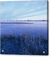 The Platte River In Central Nebraska Acrylic Print
