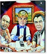 The Poker Game Acrylic Print