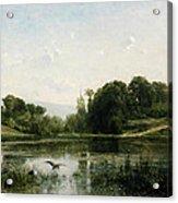 The Pond At Gylieu Acrylic Print