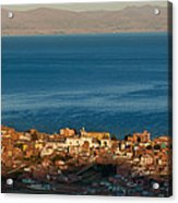 The Population Of Copacabana On The Shores Of Lake Titicaca. Republic Of Bolivia. Acrylic Print