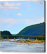 The Potomic River West Virginia Acrylic Print by Bill Cannon