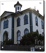 The Potter School House . Bodega Bay . Town Of Bodega . California . 7d12477 Acrylic Print by Wingsdomain Art and Photography