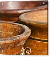 The Potters Terracotta Wares Acrylic Print