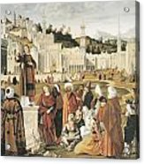 The Preaching Of Saint Stephen In Jerusalem Acrylic Print by Vittore Carpaccio