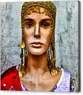 The Queen Of Bourbon Street Acrylic Print by Bill Cannon