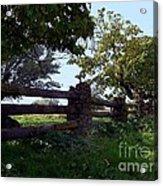 The Rail Fence Acrylic Print