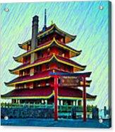 The Reading Pagoda Acrylic Print