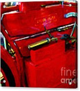 The Red Steam Flyer . Steam Powered Motorcycle . 7d14374 Acrylic Print
