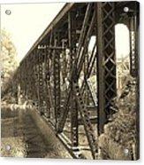The Retired Railroad Bridge Acrylic Print