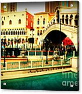 The Rialto Bridge Of Venice In Las Vegas Acrylic Print