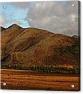 The Richardson Mountains At The Arctic Acrylic Print