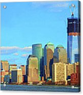 The Rising Freedom Tower Acrylic Print