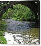 The River Dove Beneath Coldwall Bridge Acrylic Print