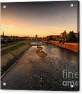 The River Exe At Tiverton Acrylic Print