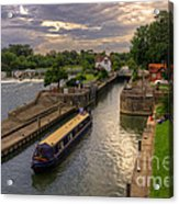 The River Thames At Goring Acrylic Print