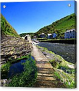 The River Valency At Boscastle Acrylic Print