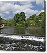 The Riverside And Weir - Bakewell Acrylic Print