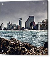 The Rocks_the Sea_the City Acrylic Print by Amr Miqdadi
